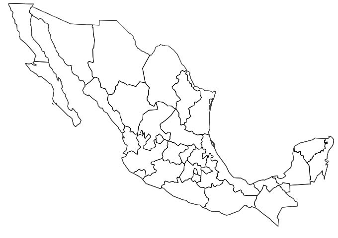 Visited Mexico Map: Map of Mexico with colored states, color Mexico ...